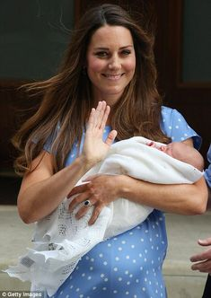 Kate and baby leaving Lindo Wing at St Mary's Hospital in London on 7/23/2013
