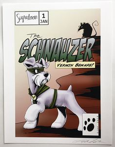 SCHNAUZER Comic Giclée Print by SUPATOON on Etsy