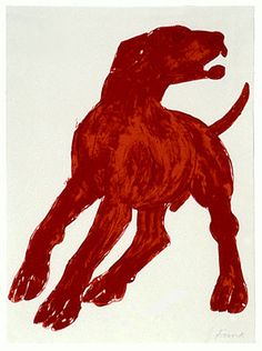 Red Dog by Elisabeth Frink - Lithograph 1990