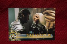 X-Men Movie #56 Topps Trading Card Deadly Deception Collectible Cards, Man Movies, Xmen, Trading Cards, Movie Posters, Collector Cards, Film Poster, Billboard, X Men
