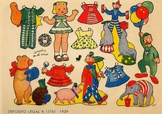 Circus paper dolls *** Paper dolls for Pinterest friends, 1500 free paper dolls at Arielle Gabriel's International Paper Doll Society, writer The Goddess of Mercy & The Dept of Miracles, publisher QuanYin5