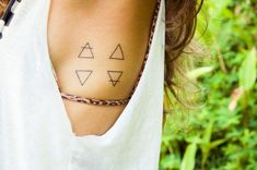 Perfect Square - Triangular Tattoos That Beautifully Portray The Four Elements - Photos
