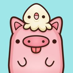Express yourself with these 35 stickers of kawaii food in your app Viber. So tasty just for you! Work we made for the messaging app Viber. Diy Kawaii, Kawaii Cute, Kawaii Anime, This Little Piggy, Little Pigs, Pig Drawing, Anime Japan, Japan Japan, Pig Art