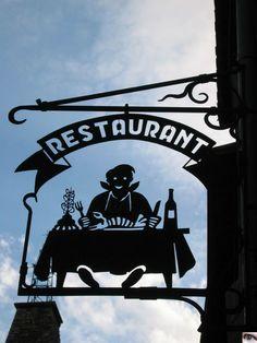 un restaurant,  Villefranche de Conflent, France