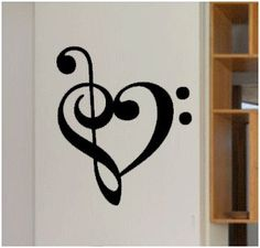 Musical heart decor.... Must have