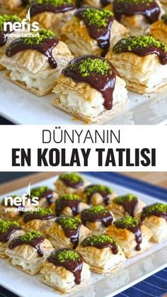World& Easiest Dessert Recipe - Delicious Dünya'nın En Kolay Tatlı Tarifi – Nefis Yemek Tarifleri World& Easiest Dessert Recipe – Delicious Recipes - Yummy Recipes, Cake Recipes, Dessert Recipes, Yummy Food, Pasta Recipes, Mini Desserts, Easy Desserts, Cedric Grolet Patisserie, Logo Patisserie