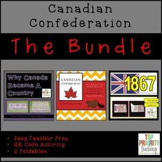 Three great products bundled into one! Your Grade 4/5 students will enjoy learning about Canada's Confederation with two foldables and a QR Code Activity.