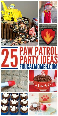 Paw Patrol fans will love these creative and easy to replicate Paw Patrol Party ideas for an unforgettable Paw Patrol Birthday Party. Cupcakes Paw Patrol, Paw Patrol Cake, Paw Patrol Party, Third Birthday, 4th Birthday Parties, Birthday Cupcakes, Birthday Fun, Boys 2nd Birthday Party Ideas, Purple Birthday