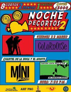 Noche de Cortos de Cine junto con CoLoRnOiSe y Miniblazer... http://www.desktopcostarica.com/eventos/2013/noche-de-cortos-de-cine-junto-con-colornoise-y-miniblazer