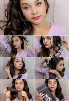 how to make curly hair style with clip in extensions #tutorial