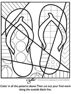 Summer Activities Free - Interactive Coloring Sheet
