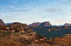 Adelsteen Normann - Fishing village in Lofoten