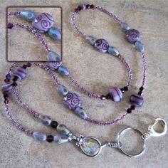 Purple Daze Beaded Lanyard