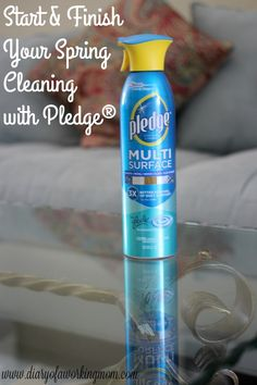 Start & Finish Your Spring Cleaning with Pledge® Multi Surface Everyday Cleaner #SCJMessyMoments ad