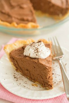 French Silk Chocolate Pie - Brown Eyed Baker - A Food & Cooking Blog