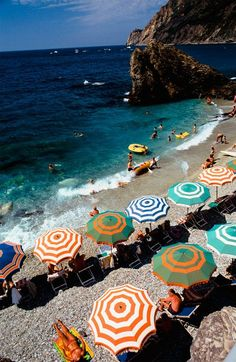 B is for Best Coast Monterosso Beach in picturesque Cinque Terre, Italy.  Photographed by Tania Cagnoni