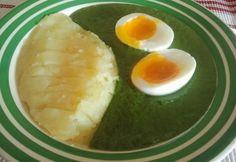 Fokhagymás spenótfőzelék Eggs, Breakfast, Recipes, Food, Morning Coffee, Recipies, Essen, Egg, Meals