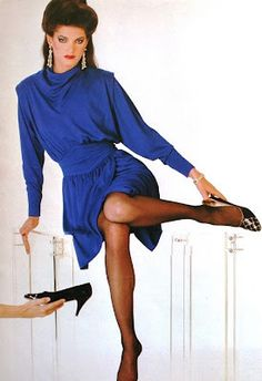 80s Fashion, Fashion History, Fashion Photo, Vintage Fashion, Fashion Outfits, 90s Wear, Original Supermodels, Pantyhose Outfits, 1980s Dresses
