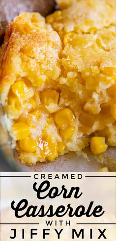 Sweet Creamed Corn Casserole (with Jiffy Mix) from The Food Charlatan