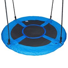 Buy Hi Suyi Disc Giant Nest Web Hanging Tree Swing Seat Set Heavy Duty Easy to Set Up For Kids Childrens Outdoor Backyard Garden Blue Outdoor Swing Sets, Backyard Swing Sets, Outdoor Trees, Backyard Ideas, Backyard Toys, Patio Swing, Backyard Furniture, Backyard Playground, Outdoor Play