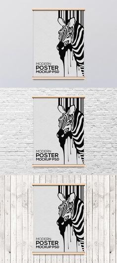 Modern poster frame mockup FREE