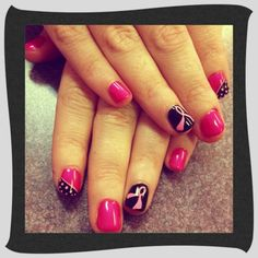 Shellac Manicure October Nail Art  The Nail Station Glen Burnie, MD