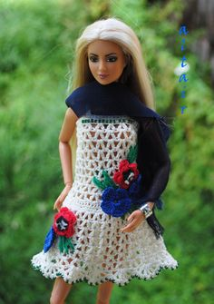 shanel | Flickr - Photo Sharing! Barbie Clothes Patterns, Clothing Patterns, Crochet Doll Clothes, Ken Doll, Barbie And Ken, Barbie Dress, Knitting Projects, Fashion Dolls, Knit Crochet