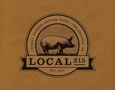 Unique Logo Design on the Internet, Local 215 Food Truck #logodesign #brandidentity #vintage