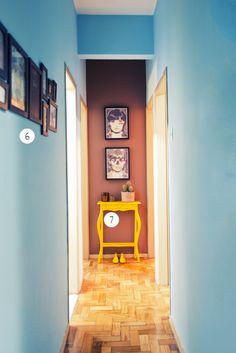 Paredes do corredor pintadas   Divino, Tiaguinho e Rapha - Casa Aberta