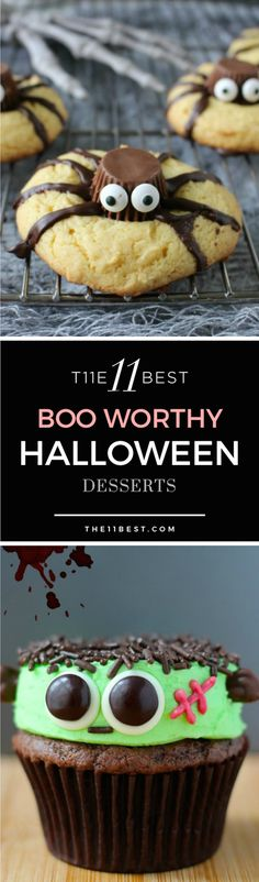 The 11 Best BOO WORTHY DIY Halloween Dessert ideas and recipes.
