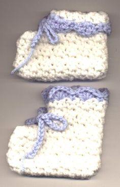 Shell Baby Bootie - free crochet pattern