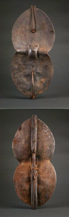 Africa | War shield from the Sukuma people of Tanzania | 19th to early 20th century ||  In addition to battle these shields were used as symbols of authority by chiefs.
