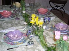 Spring Tablescape by All the Pretty Dishes, Tablescape Design and Consulting