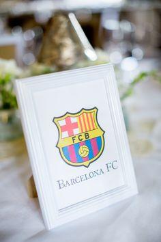 football soccer themed wedding table names