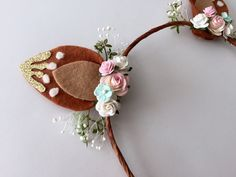 Fawn Ears Headband...Fawn Ears..Woodland by HallieBDesigns on Etsy