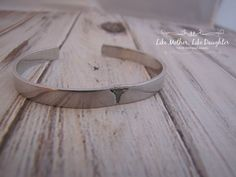 Hand Stamped Aluminum Cuff Bracelet  by MotherDaughterJewel, $15.00