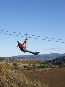Ziplining over wine country! Sooooo happening in 2012!