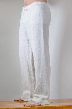White Linen Men's Pants, Brown Linen Men's Pants, Plus Size Linen Men's Pants White Linen Shirt, White Shirt Men, Mode Masculine, Mens Dress Pants, Men's Pants, Comfy Pants, Mens Suede Boots, Linen Trousers, Fashion Sites