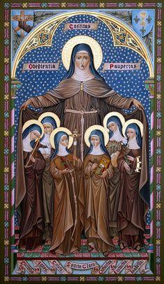 Sta. Clara fundadora de las monjas pobres de  Sn. Fco. Una de ellas, es su hna.