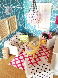 Our dollhouse living room makeover!