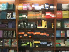 The Moleskine wall! I should get one of these Bookcases, Moleskine, Great Books, Get One, Indigo, Colors, Wall, Summer, Gifts