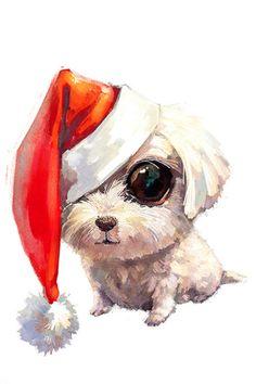 动物 萌物 插画 壁纸 小狗