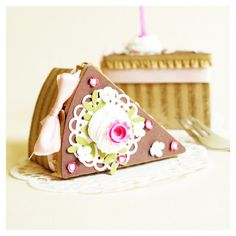 sweet pie slice paper maché boxes