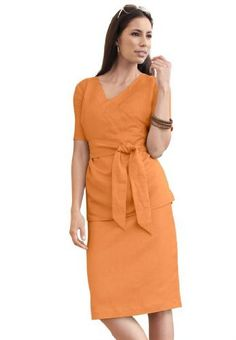 Jessica London Plus Size Linen-Blend Skirt Set Jessica London. $24.05