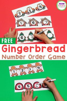 Grab our FREE Gingerbread Number Order Activity to build number sense while having tons of festive fun! It's great for Pre-K & Kindergarten!