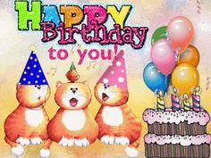 Animated Birthday Greetings, Birthday Animated Gif, Happy Birthday Gif Images, Birthday Wishes Songs, Happy Birthday Greetings Friends, Happy Birthday Wishes Cake, Happy Birthday Video, Cute Happy Birthday, Happy Birthday Beautiful