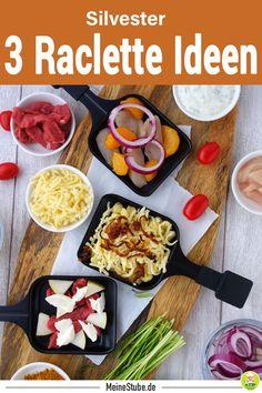 3 Raclette Rezepte Ideen für Silvester. Einfach und lecker. Auch für Weihnachten oder andere Familienfeiern. #raclette #rezepte #silvester #weihnachten #spätzle #käse #fleisch #gefügel #meinestube Fondue, Tacos, Mexican, Ethnic Recipes, Creative, Board, Fit, Blog, Fruit Recipes