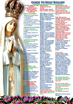 GUIDE TO HOLY ROSARY Help more people by offering each mystery for an intention. Re-posting a clearer and better version as the previous one had very small letters and some words are illegib… Catholic Prayers, Praying The Rosary Catholic, Catholic Beliefs, Catholic Bible, Prayers Of The Rosary, Catholic Sacraments, Holy Rosary Prayer, Faith Prayer, My Prayer