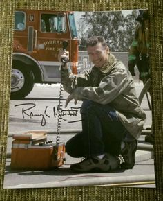 Autographed Randolph Mantooth 8x10 photo emergency Squad 51 kmg365 Johnny Gage