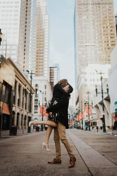 Urban and sweet, this engagement is a darling stroll through town Engagement Photography, Engagement Session, Engagement Photos, Couple In Love, Engagement Photo Inspiration, Rocky Mountains, Calgary, Romantic, Photoshoot